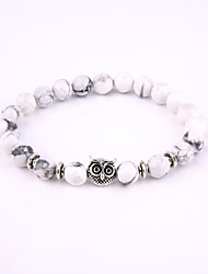 Owl Beads Bracelet Energy Natural Stone String Bracelet 03