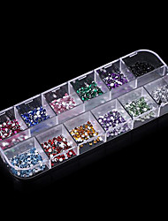 Pinpai Decorative Rhinestone Acrylic Nail Supplies Wholesale Nail Drill 12 with Flat Packing Nail Art Design