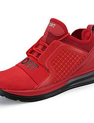Men's Sneakers Comfort Spring Fall PU Outdoor Flat Heel White Black Gray Ruby Flat