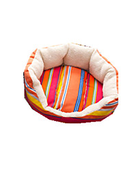Cat Dog Bed Pet Baskets Stripe Keep Warm Soft Durable Random Color