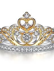 Жен. Муж. Кольца на вторую фалангу Pоскошные ювелирные изделия Классика Циркон Сплав В форме короны Бижутерия НазначениеСвадьба Для