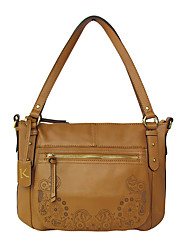 Kate&Co. fashion retro carved leather handbag TH-2064 yellow
