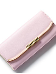Women Coin Purse PU Polyester All Seasons Casual Outdoor Rectangle Magnetic Light Purple Fuchsia Blushing Pink