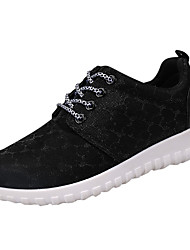 Women's Athletic Shoes Comfort PU Spring Summer Casual Comfort Low Heel Gray Black Under 1in