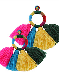 Euramerican Fashion Casual Unique Luxury Female Statement Jewelry Ladies Elegant Drop Earrings For Women Bohemian Tassels Dangle Earrings