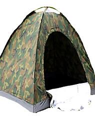2 Personen Zelt Einzeln Falt-Zelt Einzimmer Camping Zelt 1000-1500 mm Terylen Silber BandBelüftung Schnelles Trocknung Anti-tragen