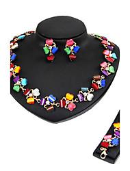Жен. Набор украшений Ожерелье / Браслет Свадебные комплекты ювелирных изделий Стразы Мода Euramerican Классика Резина В форме сердца