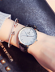 Mulheres Relógio de Moda Quartzo Couro Banda Preta Marrom