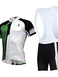 骑缘 Maglia con salopette corta da ciclismo Unisex Maniche corte BiciclettaTraspirante Asciugatura rapida Anti-polvere Indossabile