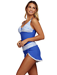 Women's Halter Tankini High Rise Color Block