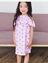 Girl's Striped Dress,Cotton Summer Short Sleeve