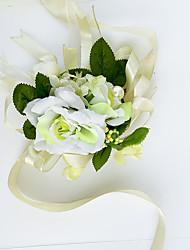 """Fleurs de mariage Petit bouquet de fleurs au poignet Cérémonie de mariage Mousseline de soie 2.76""""(Env.7cm)"""