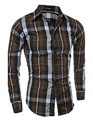 This Year Of Winter Man Almirah Necessary Article Men's Plus Size Daily Simple Shirt Solid Striped Plaid Peter Pan Collar Long Sleeve Cotton