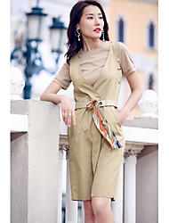 AGD Women's Party/Evening Going out Casual/Daily A-Line Slip Casual Active Basic Chic & Modern Spring Summer T-shirt Dress SuitsSolidRound