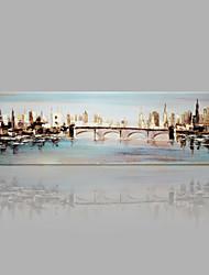 Pintados à mão Paisagens Abstratas qualquer Forma,Outros 1 Painel Tela Pintura a Óleo For Decoração para casa