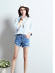 Women's Low Waist Inelastic Shorts Pants,Cute Simple Straight Solid