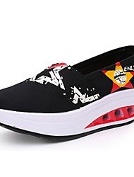 Women's Sneakers Comfort Canvas Summer Casual Comfort Light Blue Ruby Navy Blue Black 1in-1 3/4in