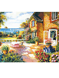 Jigsaw Puzzles Jigsaw Puzzle Building Blocks DIY Toys Others House Flower Wooden