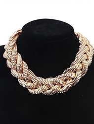 Chain Necklaces  Women's Statement  Metal Golden Necklace Sexy  Rock Euramerican  Casual Bohemia Chain Necklaces Jewelry Gifts Daily Business