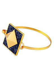 Women's Bangles Jewelry Friendship Fashion Movie Jewelry Hypoallergenic Brass Gold Plated Alloy Square Jewelry ForAnniversary