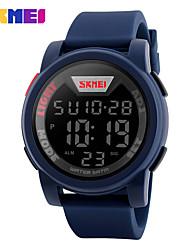 SKMEI Муж. Спортивные часы электронные часы Цифровой силиконовый Группа Черный Синий Зеленый