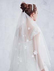 Wedding Veil One-tier Elbow Veils Cut Edge Tulle