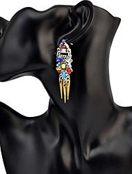 Femme Boucles d'oreille goutte Basique Circulaire Original Pendant Cercle Amitié Mode Bijoux Fantaisie Vintage Afrique Bohême Simple
