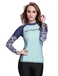 SBART Femme Costumes humides Chinlon Tenue de plongée Manches Longues Hauts/Tops-Plage Sports Nautiques Plongée Toutes les Saisons Imprimé