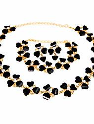 Mujer Juego de Joyas Collar / pulsera Los sistemas nupciales de la joyería Cristal Moda Cosecha Euramerican Estilo Simple ClásicoResina