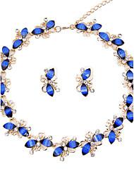 Mujer Juego de Joyas Los sistemas nupciales de la joyería Collar / pulsera Cristal estilo de Bohemia Euramerican Clásico Moda ResinaForma