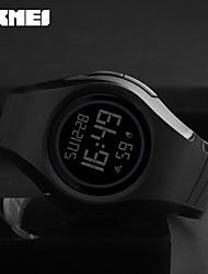 SKMEI Homens Relógio Esportivo Relogio digital Japanês Digital Impermeável alarme Noctilucente Borracha Banda Legal Casual Preta