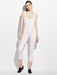 Femme simple Taille Normale Sports Combinaison-pantalon,Slim Couleur unie Toutes les Saisons