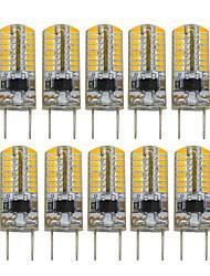 3W Luci LED Bi-pin T 64 SMD 3014 200-300 lm Bianco caldo Decorativo V 10 pezzi