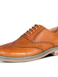 Для мужчин обувь Кожа Весна Осень Формальная обувь Свадебная обувь Назначение Повседневные Черный Коричневый