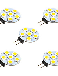 1W Luci LED Bi-pin 6 SMD 5050 68 lm Bianco caldo Bianco DC 12 V 5 pezzi