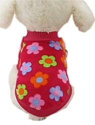 Hund Mäntel T-shirt Pullover Hundekleidung Lässig/Alltäglich Modisch Streifen Rose Braun Rot Blau Streifen