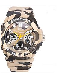 Муж. Модные часы Цифровой Pезина Группа Повседневная Черный Белый Разноцветный