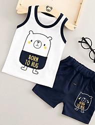 Baby Children's Outdoor Cartoon Clothing Set,Cartoon Summer