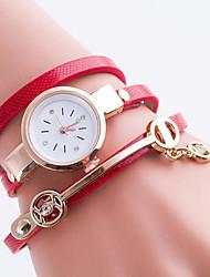Жен. Часы-браслет Цифровой Металл Группа Черный Белый Синий Красный Зеленый Золотистый