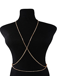 Women's Body Jewelry Body Chain Fashion Copper Rhinestone Alphabet Shape Jewelry For Casual Outdoor clothing Casual/Daily Club
