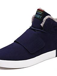 Для женщин Спортивная обувь Удобная обувь Натуральная кожа Весна Повседневные Черный Серый Синий На плоской подошве