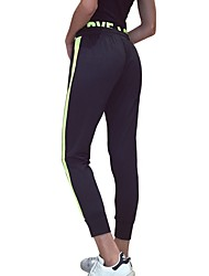 Mujer Pantalones de Running Gimnasio, Correr & Yoga Secado rápido Cortados para Jogging Ejercicio y Fitness Corte Ancho Negro
