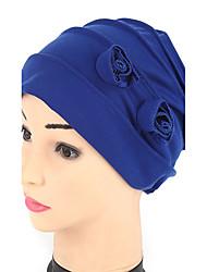 Для женщин Шапки Панама Широкополая шляпа Шляпа от солнца,Весна/осень Лето Хлопок Однотонный Цветочный
