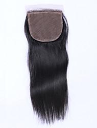 Cierre virginal brasileño del pelo del beata 4 * 4inch cierre de seda del cierre natural brasileño recto del pelo 8-20inch largo 1 pedazo
