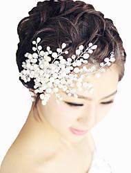 The Crystal With Handmade Headwear Pearl Hairbrush