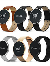Women's Men's Smart Watch Automatic self-winding Metal Leather Band Black Silver Brown Gold