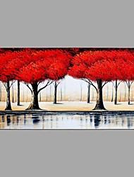 Ручная роспись Пейзаж Горизонтальная,Абстракция 1 панель Холст Hang-роспись маслом For Украшение дома