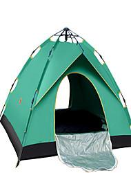3-4 personnes Tente Double Tente pliable Une pièce Tente de camping 1000-1500 mm Térylène Ruban adhésif argentéSéchage rapide Ventilation