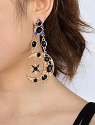 Femme Boucle d'oreille Pendant Mode Personnalisé euroaméricains Bijoux Fantaisie Imitation de perle Acrylique Alliage Lune Bijoux Pour