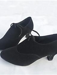 Women's Latin PU Heels Practice Ruby Black